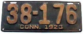 1923 plate